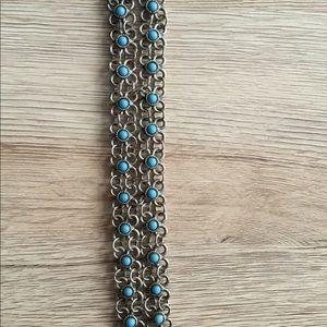 Bracelet with blue stones